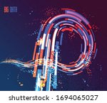 3d abstract dynamic lines in... | Shutterstock .eps vector #1694065027