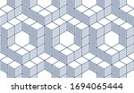 geometric cubes abstract... | Shutterstock .eps vector #1694065444