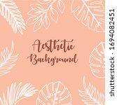 hand drawn aesthetic pattern...   Shutterstock .eps vector #1694082451