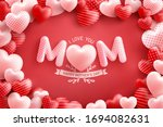 mother's day poster or banner... | Shutterstock .eps vector #1694082631