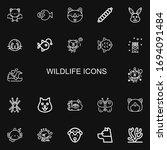 editable 22 wildlife icons for... | Shutterstock .eps vector #1694091484