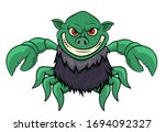 green monster with claws and... | Shutterstock .eps vector #1694092327