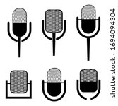 microphone icon. set of ...   Shutterstock .eps vector #1694094304