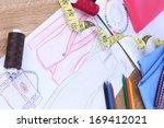fashion designer close up | Shutterstock . vector #169412021