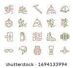 Vector Color Linear Icon Set Of ...