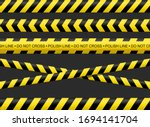 police line and tape  a variety ... | Shutterstock .eps vector #1694141704