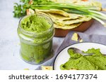 Green Chickpea Hummus With...