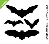bat silhouettes vector | Shutterstock .eps vector #169420565