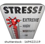 stress thermometer  | Shutterstock . vector #169422119