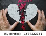 White Heart Shaped Puzzle....