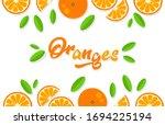 orange background. orange... | Shutterstock .eps vector #1694225194