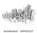 vector city sketching. | Shutterstock .eps vector #169423127