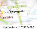 Stoughton on a geographical map of UK