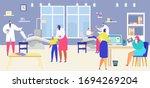 patient visit dentist vector...   Shutterstock .eps vector #1694269204