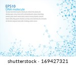 eps10  dna molecule  abstract... | Shutterstock .eps vector #169427321