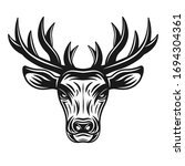 Deer Head Vector Illustration...