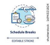 schedule breaks concept icon.... | Shutterstock .eps vector #1694321824