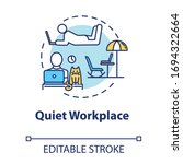 Quiet Workplace Concept Icon....