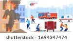 emergency service rescue people ... | Shutterstock .eps vector #1694347474