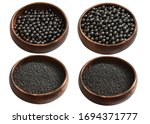Small photo of Lead And Steel Balls for manufacturing buckshot slugs on white background isolated