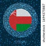 round oman badge. flag of oman... | Shutterstock .eps vector #1694375887
