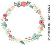 Vintage Flowers Wreath