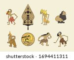 wayang or puppet from indonesia....   Shutterstock .eps vector #1694411311