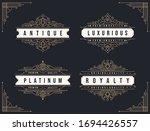 vintage ornament flourishes...   Shutterstock .eps vector #1694426557