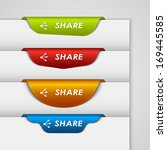 color label bookmark share on... | Shutterstock .eps vector #169445585