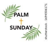 palm sunday banner as religious ...   Shutterstock .eps vector #1694506171