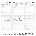 set of black and white... | Shutterstock .eps vector #1694509897