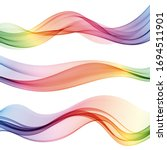 abstract flow of colored waves ...   Shutterstock .eps vector #1694511901
