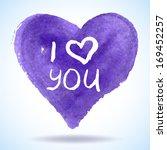 watercolor vector heart... | Shutterstock .eps vector #169452257