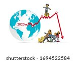 crisis impact on global economy ... | Shutterstock .eps vector #1694522584