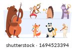 animals musicians. wild cartoon ...   Shutterstock .eps vector #1694523394