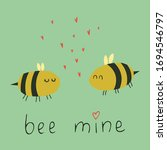 cure bees in love witn...   Shutterstock .eps vector #1694546797