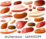 vector illustration of various... | Shutterstock .eps vector #169455299