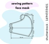 sewing pattern of a medical... | Shutterstock .eps vector #1694555401