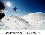 snowboarder jumping through air ... | Shutterstock . vector #16945570