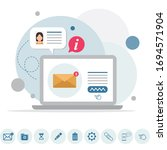 email message  infographic ...   Shutterstock .eps vector #1694571904