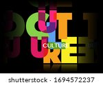 culture concept letters banner  ... | Shutterstock .eps vector #1694572237