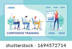 educating employees to grow and ... | Shutterstock .eps vector #1694572714