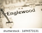 Englewood. Colorado. USA on a geography map.