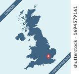 United Kingdom Map With Capital ...