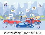 global ecology problem. carbon... | Shutterstock .eps vector #1694581834