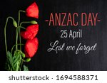 Anzac Day. Greeting Card With...
