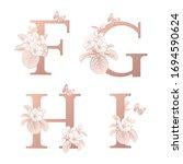 letters f g h i  flowers... | Shutterstock .eps vector #1694590624
