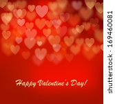 valentine's day background with ... | Shutterstock .eps vector #169460081