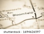 Bloomfield. Missouri. USA on a geography map.