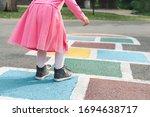 Little Girl In A Pink Dress...